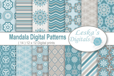 Mandala Digital Paper