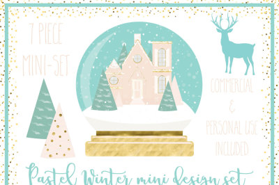 Pastel Winter mini design kit