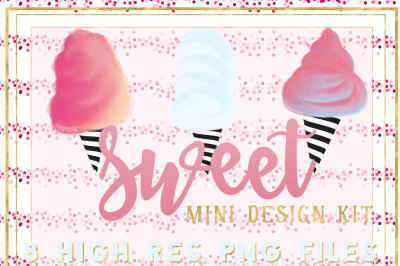 Sweet Cotton Candy mini design kit