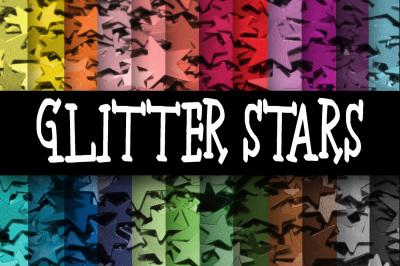 Glitter Stars Textures Digital Paper