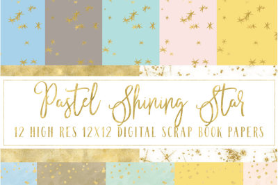 Pastel Shining Star digital paper