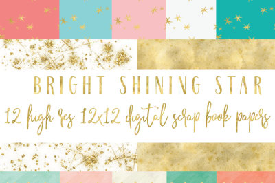 Bright Shining Star digital paper