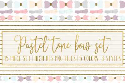 Pastel Tone Bows
