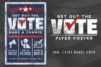 Vote Patriotic Election Flyer Poster