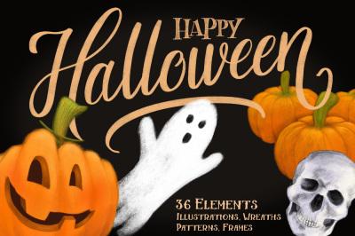 The Happy Halloween Illustration Pack