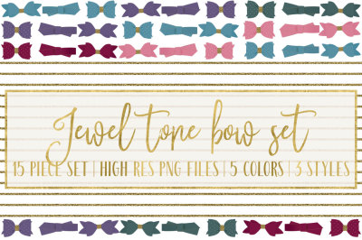 Jewel Tone Bows