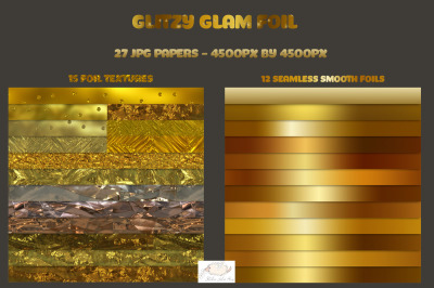 Glitzy Glam Foil Papers