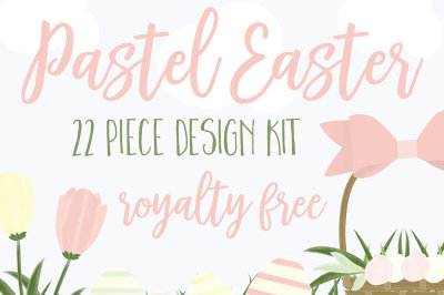 Pastel Easter design kit