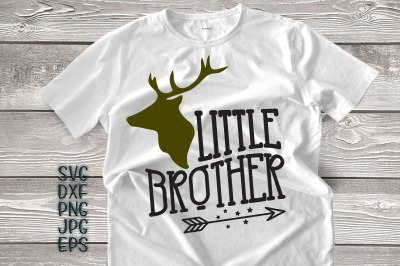 little brother svg, little brother antlers svg, arrow svg, big brother little brother svg, DXF PNG, jpeg, cricut little brother, printable