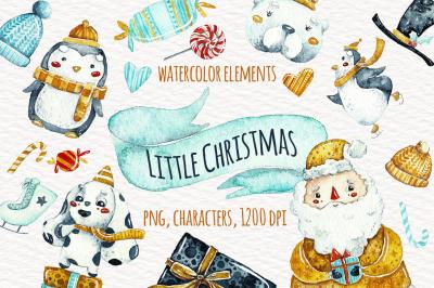 Watercolor Little Christmas