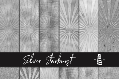 Silver Sunburst Digital Paper