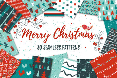 30 Merry Christmas patterns