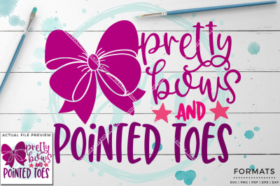 Pretty Bows & Pointed Toes SVG - Small Commercial Use SVG & Instant Download
