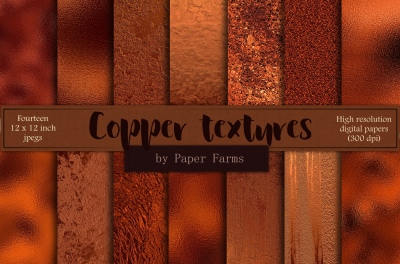 Copper foil backgrounds