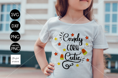 Candy Corn Cutie Halloween SVG Cut File, DXF and PNG File