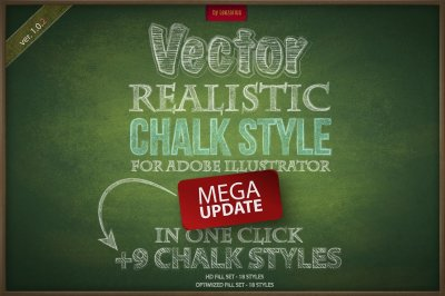 Chalk realistic vector AI style