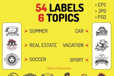 Black labels set