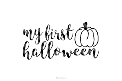 My first halloween, cutting file, SVG, PNG, EPS
