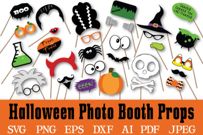 Halloween Photo Booth Props - SVG Cut File