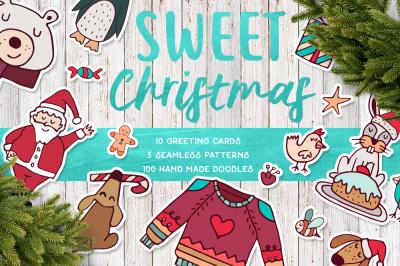 Sweet Christmas: hand drawn set