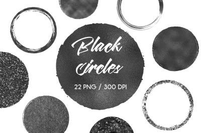Black Circles Clip Art