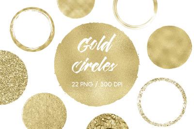 Gold Circles Clip Art