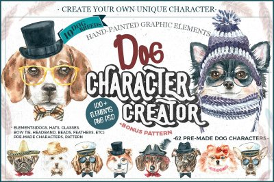 Watercolor dogs. Animal Clipart
