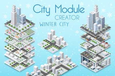 City module creator vector city