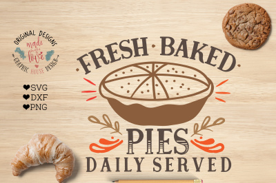 Fresh Baked Pies Cut File and Printable