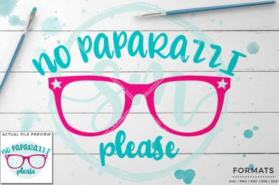 No Paparazzi SVG - Small Commercial Use SVG & Instant Download