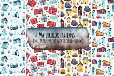 Watercolor patterns part 2