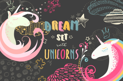 Dream set with Unicorns