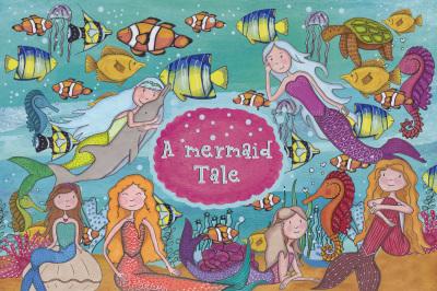 A Mermaid Tale Clipart
