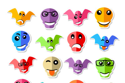 Halloween fun faces vector