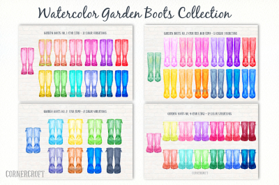 Watercolor Garden Boots Collection