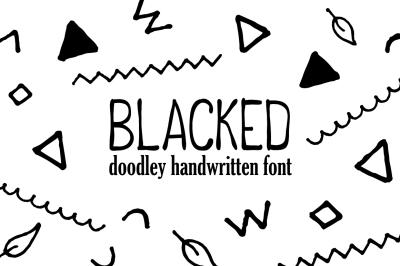 Blacked Doodle Handwritten Script