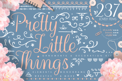 Pretty Little Things - Decoration Design Kit & Monograms