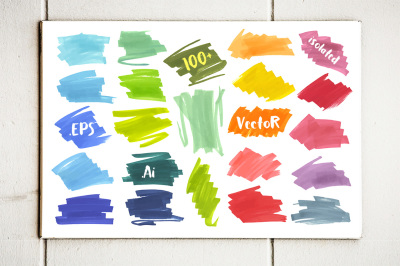 Vector Marker Banners Collection v.2