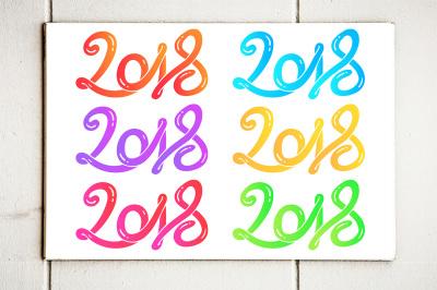 2018 Happy New Year Vector illustration