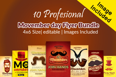 10 Movember Flyer Bundle
