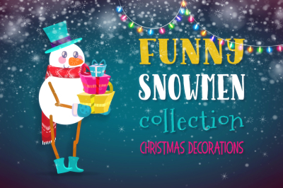 Funny Snowmen collection