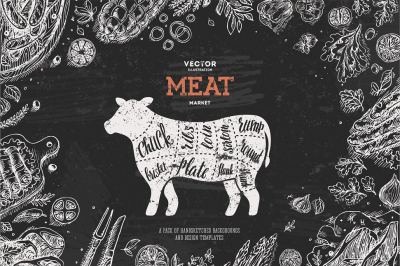 Meat backgrounds & design templates