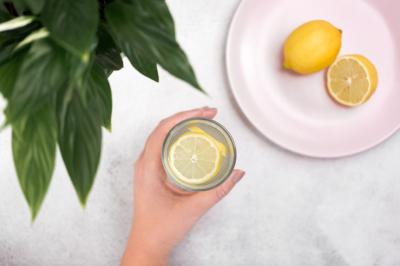 Aerial Lemon Water & Lemons