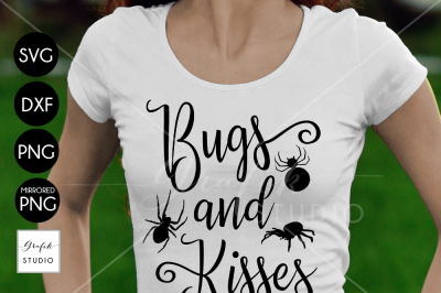 Bugs and Kisses Halloween SVG Cut File, DXF and PNG File