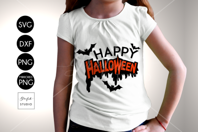 Happy Halloween SVG Cut File, DXF and PNG File