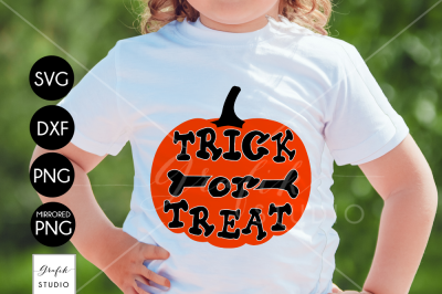 Trick Or Treat Halloween SVG Cut File, DXF and PNG File