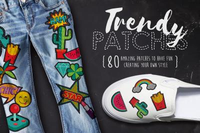Trendy Patches: vintage 90's patch set!