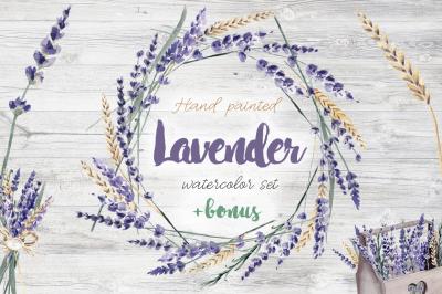 Lavender Watercolor Set Clipart