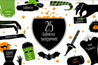 25 Halloween backgrounds & icons