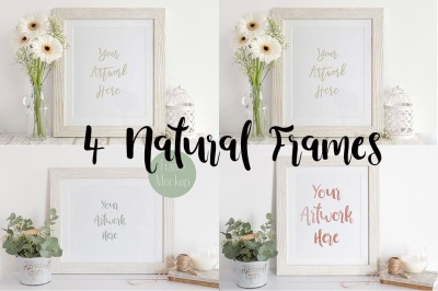4 Neutral Frame Mockups